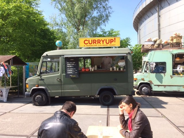 Vintage Foodtruck CurryUp! tijdens Rollende Keukens